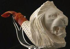 Meerschaum Lion Head