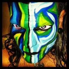 Facebook Jeff Hardy Face Paint, Best Wwe Wrestlers, Wwe Jeff Hardy, The Hardy Boyz, Brothers In Arms, Cool Face, Creatures Of The Night, War Paint, Wwe Hardys