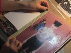 watch the process - working in a collage art journal