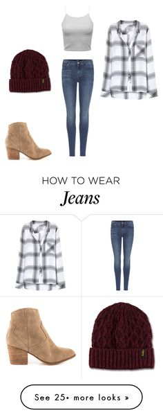 """Jeans & Flannel"" by marissa-brenchley on Polyvore featuring 7 For All Mankind, Dr. Martens, ALDO and Rails"