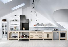 Kitchen under the roof via Riazzoli.