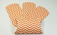 Orange Chevron Favor Boxes  Halloween Treat by PaperWondersShop