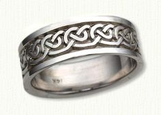 Celtic Galway Knot Wedding Band-