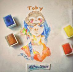 Toby from Clawbert love that game is so cute!!! . . Toby de Clawbert emo ese juego! Es muy mono. . . MATERIALS -Royal Lagnickel watercolors . . #girl #clawbert #drawing #draw #illustration #pintar #instaart #pen #pencil #teen #sketch #sketchbook #acuarela #artistoninstagram #ink #art #artist #toby #paint #painting #talent #chica #creative #love #dibujo #watercolor #cute #originalart #pintura #character . . @claw_bert . . @clawbertgame . . @clawbert_oficial