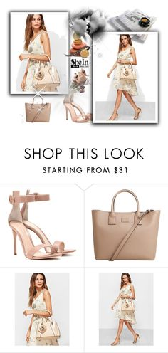 """""""ROMWE"""" by mersy-123 ❤ liked on Polyvore featuring Gianvito Rossi and MANGO"""