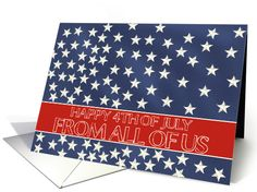 From All of us in Company - Happy 4th of July stars on blue chalkboard card Order now and pick up at your local Target or Bartell Drugs store. One hour service!