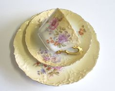 Antique Staffordshire Bone China Tea Trio by TheWhistlingMan, £23.50