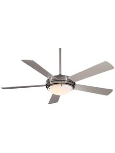 Buy the MinkaAire Brushed Nickel Direct. Shop for the MinkaAire Brushed Nickel 5 Blade Como Ceiling Fan - Light, Wall Control and Blades Included and save. Contemporary Ceiling Fans, Contemporary Decor, Kitchen Fan, Dim Lighting, House Lighting, Lighting Ideas, Square Art, B 13, Minka