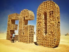 My favorite sculpture piece at Burning Man 2012.  EGO Project by Arno Gourdol, via Flickr.