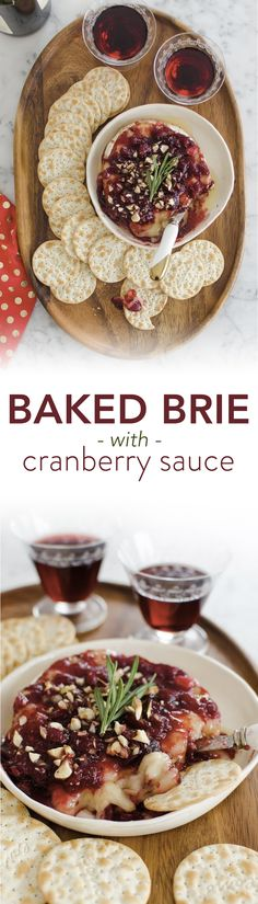Baked Brie with Cranberry Sauce Recipe. If you're looking for creative and unique appetizers and snacks to add to your Thanksgiving menu, you've come to the right place! This EASY FANCY treat is a nice addition - or replacement - for a cheese plate or tray. Serve this melty, indulgent dish on Thanksgiving or Christmas with homemade or purchased cranberry sauce.