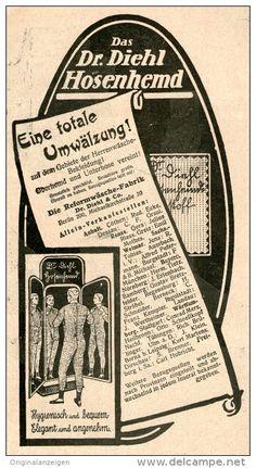 Original-Werbung/Inserat/ Anzeige 1912 - DR.DIEHL HOSENHEMD ca. 160 X 80 mm