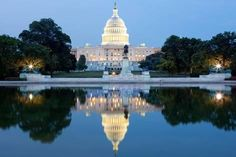 Photographic Print: The United States Capitol after Dark by SFC : 24x16in
