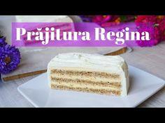 Prăjitură Regina || 🍰 Dulcinele ❤ - YouTube Vanilla Cake, Caramel, Youtube, Desserts, Food, Floral Drawing, Salt Water Taffy, Tailgate Desserts, Toffee
