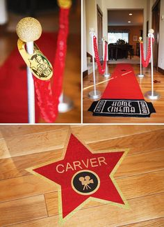 movie party red carpet entrance
