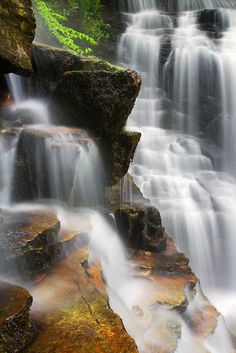 Soco Falls in the Great Smoky Mountains National Park, North Carolina