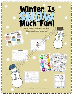 Winter Is SNOW Much Fun! product from Its-All-Elementary on TeachersNotebook.com
