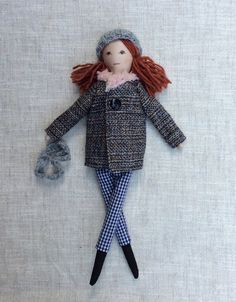 "Fabric doll,Dress up doll, Mom Daughter dolls, doll set, play set, soft doll, 13"" doll, rag doll,"