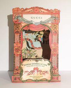 Gucci invitation mfw