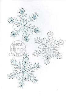 Snowflakes by Sew Cute Cards  www.facebook.com/sewcutecards http://sewcute.storenvy.com