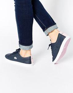 Lacoste - Marcel - Baskets - Bleu et rose … Lacoste Shoes Women, Sneakers Fashion, Fashion Shoes, Shoe Boots, Shoes Heels, Baskets, Nike Elite Socks, Me Too Shoes, Trainers