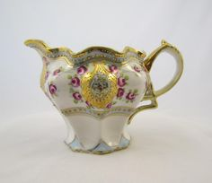 Antique Nippon Porcelain Creamer with Gold Moriage