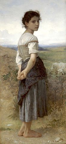 William-Adolphe Bouguereau (1825-1905) - The Young Shepherdess (1885) - William-Adolphe Bouguereau - Professional Artist is the foremost business magazine for visual artists. Visit ProfessionalArtistMag.com.- www.professionalartistmag.com