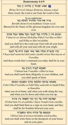 Shema - Hear and Obey - En-Gedi Resource Center