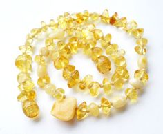 How to make Baltic amber teething necklace. This is a great step by step tutorial! ~Kimbrah