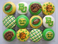 #Baylor cupcakes by C Star Cakes