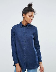 Get this Waven's denim shirt now! Click for more details. Worldwide shipping. Waven Nott 3.0 Denim Shirt - Blue: Top by W�VEN, Non-stretch denim, spread collar, Button placket, Split sides, Relaxed fit, Machine wash, 100% Cotton, Our model wears a UK S/EU S/US XS and is 179cm/5'10.5 tall. Inspired by minimalist design, contemporary denim brand W�VEN focuses on clean lines and relaxed silhouettes. Channeling two generations of denim manufacturing know-how into its perfect fits and finishes...