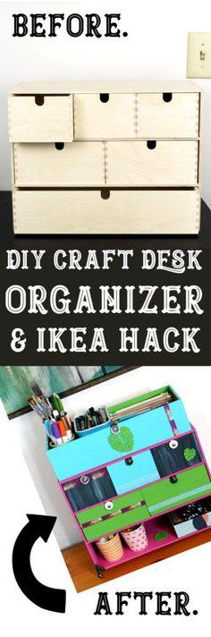 DIY Crafts Desk Organizer & Ikea Hack!