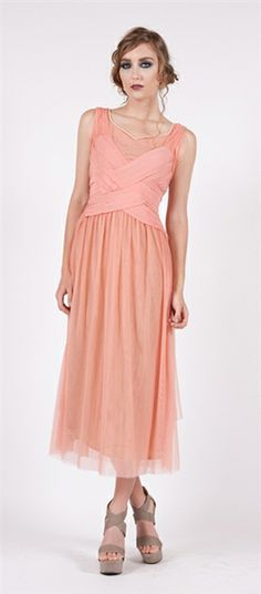 Nataya #40156 Coral Tea Tulip Vintage Dress,Nataya vintage style dress,1920's style dress,1930's inspired dress,downton Abbey style dress,vintage inspired wedding dress.