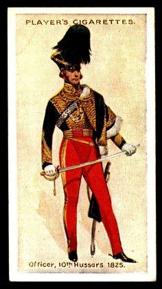 Cigarette Card - Officer 10th Hussars 1825