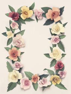 Paper flowers by Fideli Sundqvist, via Behance