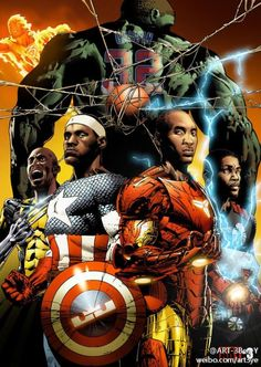 Kevin Garnett, LeBron James, Kobe Bryant, and Kevin Durant