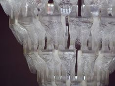 printed chandelier from Slovak design talent Silva Lovasova. 3d Printing Technology, Biodegradable Products, Crystals, Prints, Chandeliers, Design, Transitional Chandeliers, Crystal, Chandelier