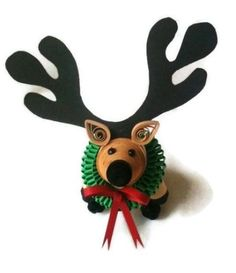 Reindeer Christmas Ornament Paper