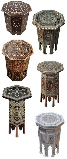 eKenoz Moroccan Syrian Turkish Inlaid Tables decor diy moroccan style Secret Ingredient for a Well-Traveled Room Turkish Decor, Turkish Lamps, Turkish Design, Turkish Art, Moroccan Decor, Turkish Tiles, Portuguese Tiles, Moroccan Bedroom, Moroccan Interiors