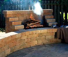 """Determine more details on """"outdoor fire pit ideas backyards"""". Diy Outdoor Fireplace, Outside Fireplace, Backyard Fireplace, Fire Pit Backyard, Propane Fireplace, Open Fireplace, Backyard Patio Designs, Backyard Landscaping, Outside Living"""