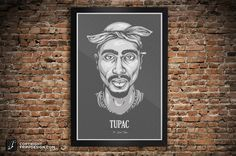 Tupac Shakur 2pac Poster Wall Art The Dead Series by frippdesign