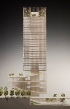 Skidmore Owings & Merrill. Mix Use Building, Building Concept, High Rise Building, Som Architecture, Concept Architecture, Archi Design, Architect Design, Residential Building Design, Retail Facade