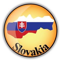 Slovakia Map Flag Glossy Label Car Bumper Sticker Decal