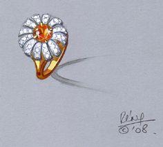 custom daisy ring