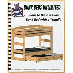 [Full Size Trundle Bed] Bunk Bed DIY Woodworking Plan to Build Your Own Twin Bunk (that does not unstack) with Trundle Bed and Hardware Kit (for Bunk and Trundle) that Sleeps Three * Want to know more, click on the image. (This is an affiliate link) #SleepBetterTips