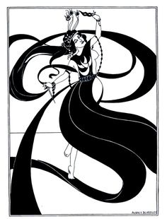 Art Nouveau artist Aubrey Beardsley was an English author and illustrator. His drawings in black ink emphasized the grotesque, the decadent, and the erotic. Art Nouveau, Motif Art Deco, Japanese Woodcut, Aubrey Beardsley, Art Japonais, Arts And Crafts Movement, Art History, Design History, Brighton