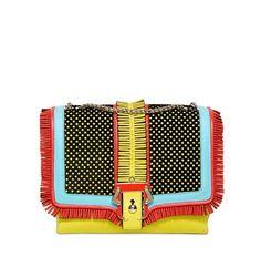 Fancy - Alice Folk Fringed Leather Shoulder Bag by Paula Cademartori