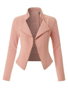 Best 12 Sharpen your wardrobe with this lightweight ruched sleeve open front blazer jacket. A softly draped open-front silhouette softens the look while the ruched sleeves adds a modern touch to this blazer. This blazer is perfect for either profession Blazer Outfits, Blazer Fashion, Fashion Outfits, Womens Fashion, Cheap Fashion, Looks Kate Middleton, Looks Chic, Blazers For Women, Women Blazer