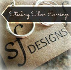 Sterling Silver Earrings by SFDesigns www.sfdesigns2015.etsy.com
