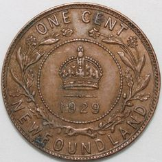 Old Coins, Rare Coins, Canadian Things, Canadian History, Coin Collecting, Newfoundland, Bronze, Canada, Stamps