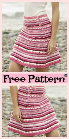 8 Beautiful Crochet Summer Skirt Free Patterns #freecrochetpatterns #skirt